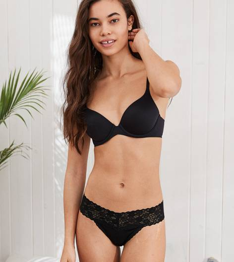 True Black Sunnie Stretch Lightly Lined Bra