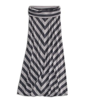 77 chevron striped maxi skirt