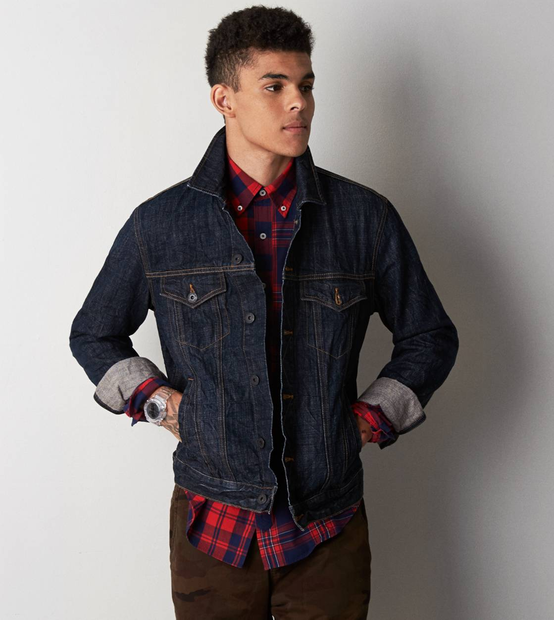 Navy AE Dark Denim Jacket