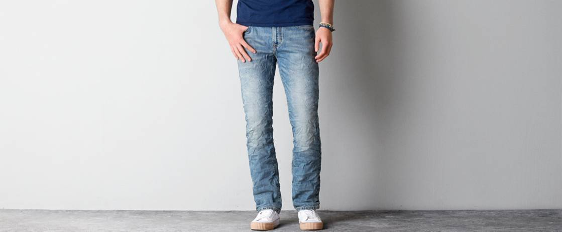 Light Clean Indigo Original Straight Jean