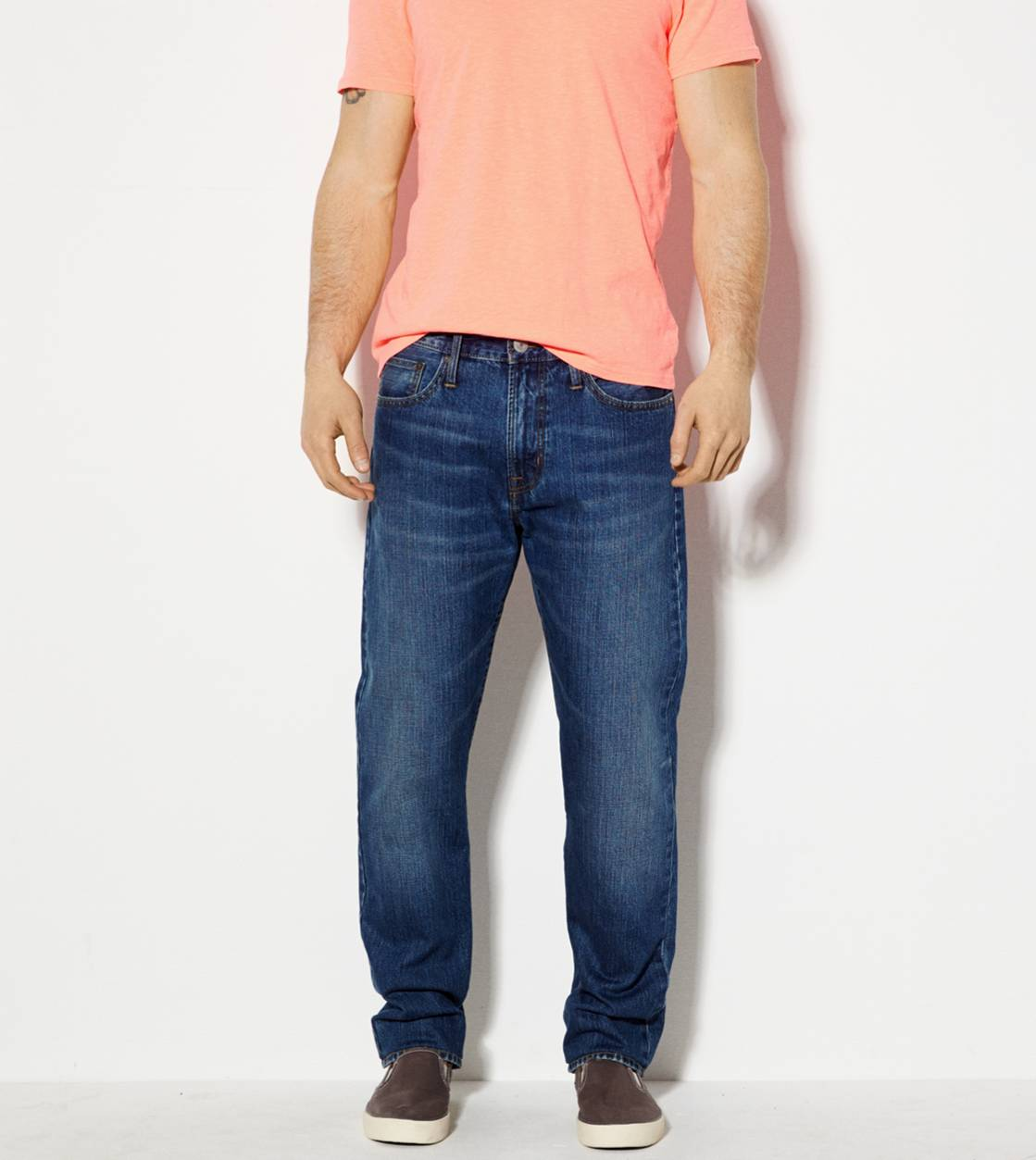 Medium Rugged Relaxed Straight Jean
