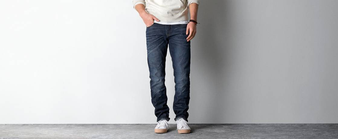 Dark Saturated Slim Straight Jean