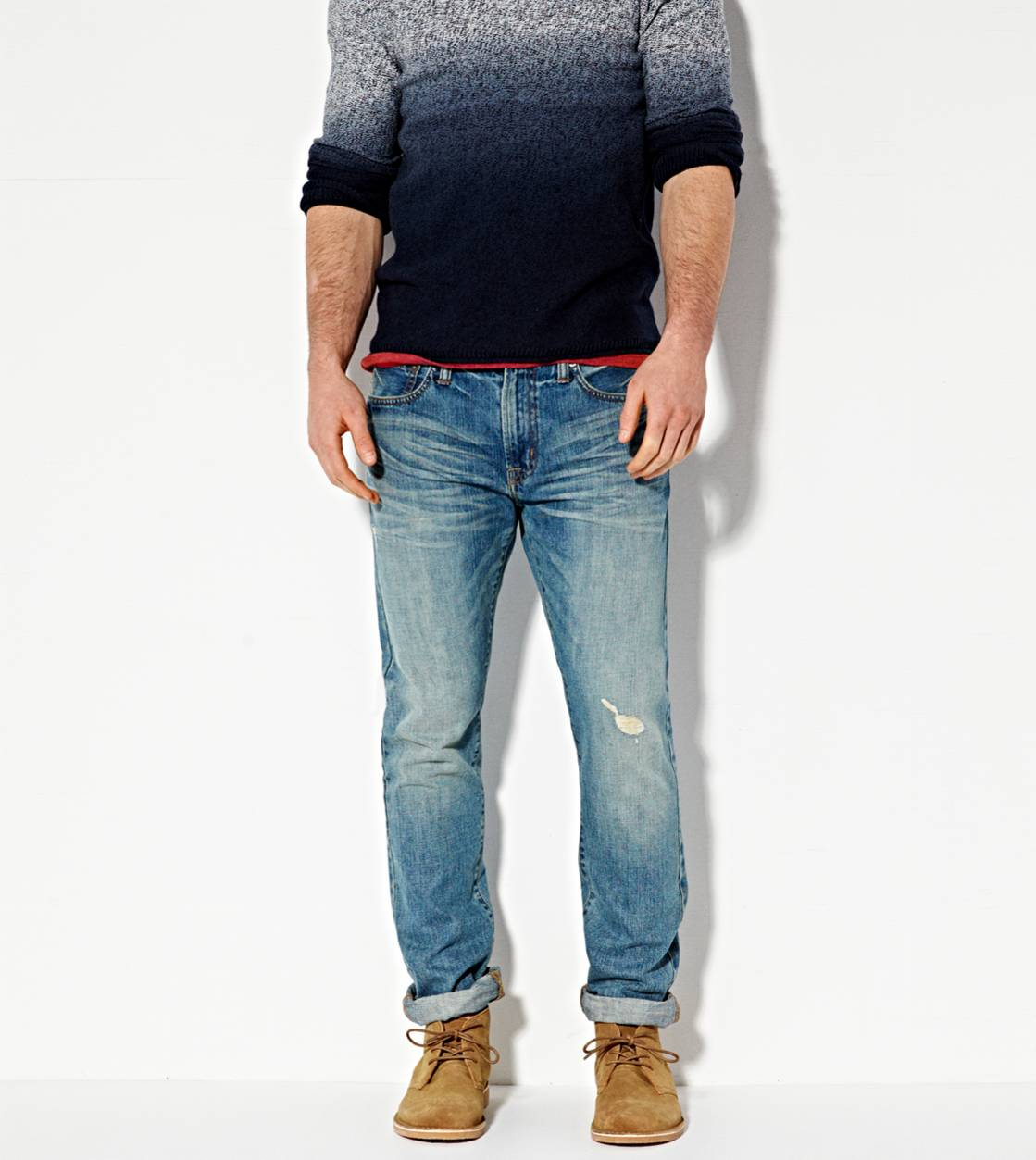 Medium Resin Whisker Slim Jean