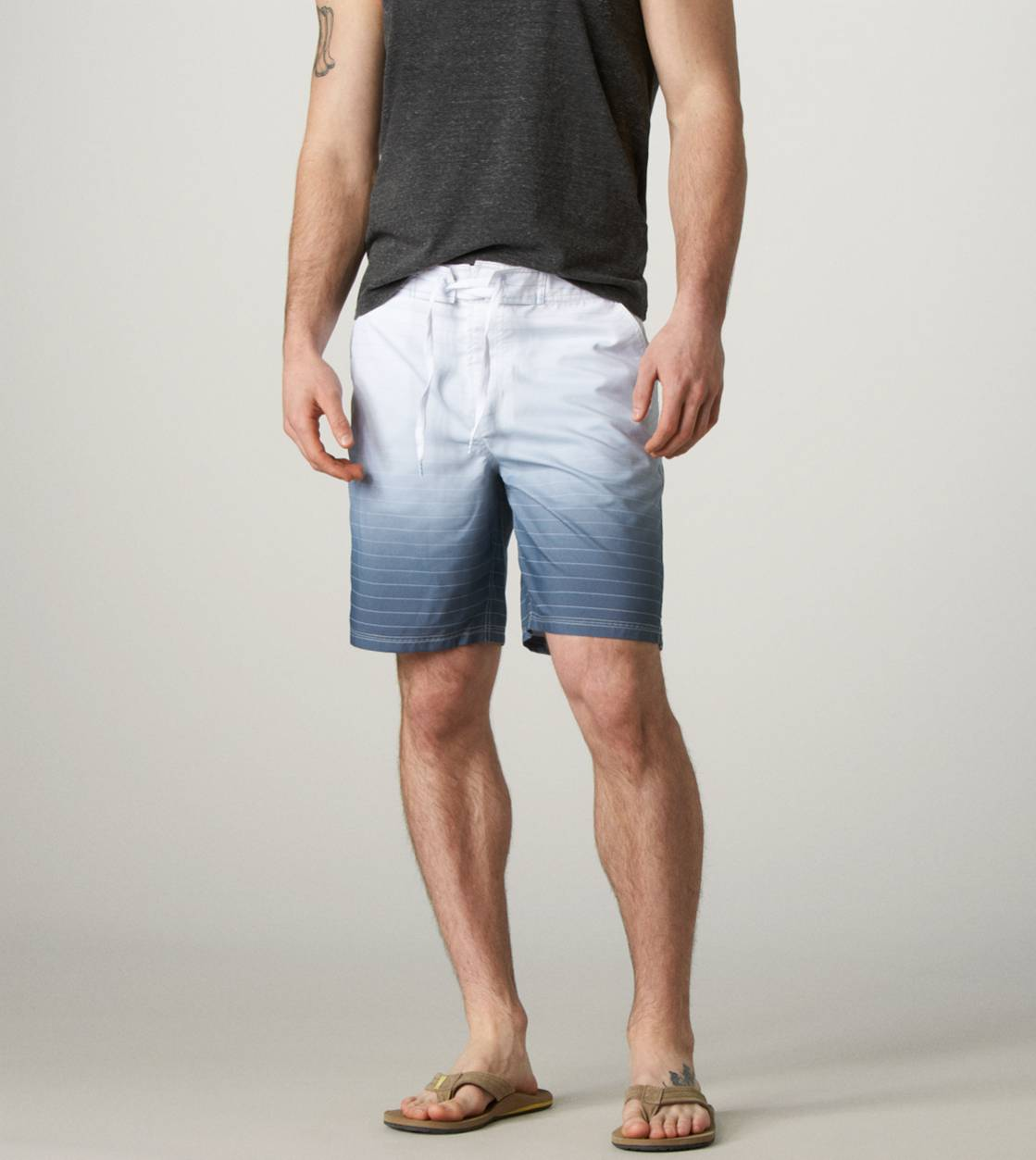 Grey AE Ombre Striped Board Short