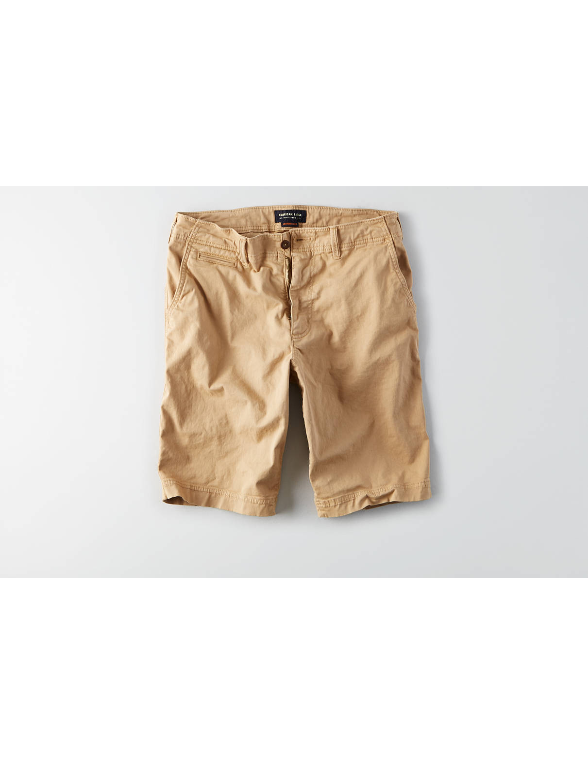 Display product reviews for AEO Extreme Flex Longer Length Flat Front Short