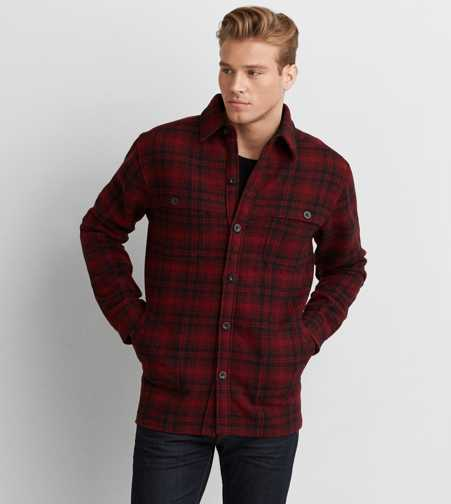 Woolrich Plaid Shirt Jacket