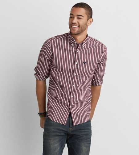 AEO Striped Button Down Shirt