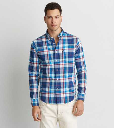 AEO Poplin Button Down Shirt  - Buy One Get One 50% Off