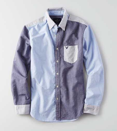AEO Colorblock Oxford Shirt  - Buy One Get One 50% Off