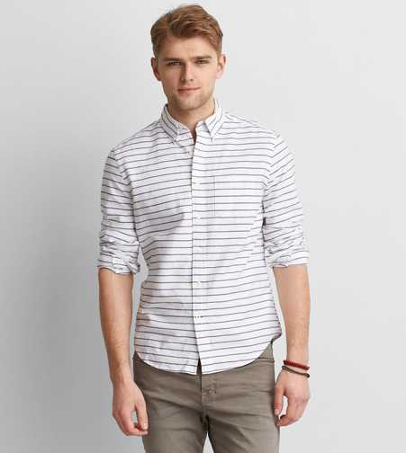 AEO Stripe Button Down Shirt