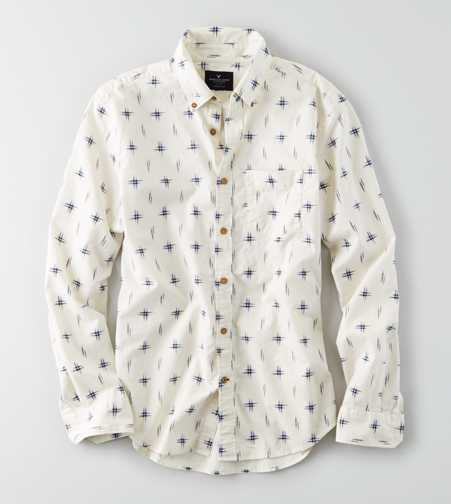 AEO Slim Ikat Button Down Shirt