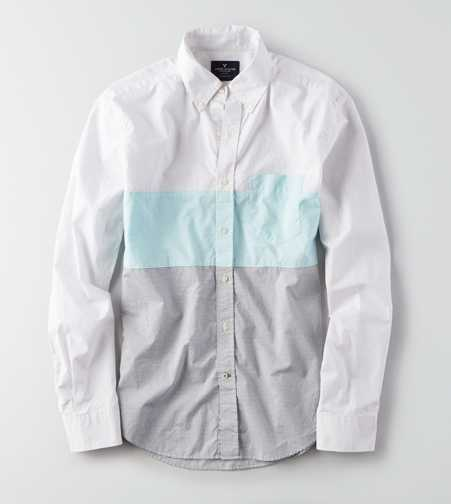 AEO Microstripe Button Down Shirt