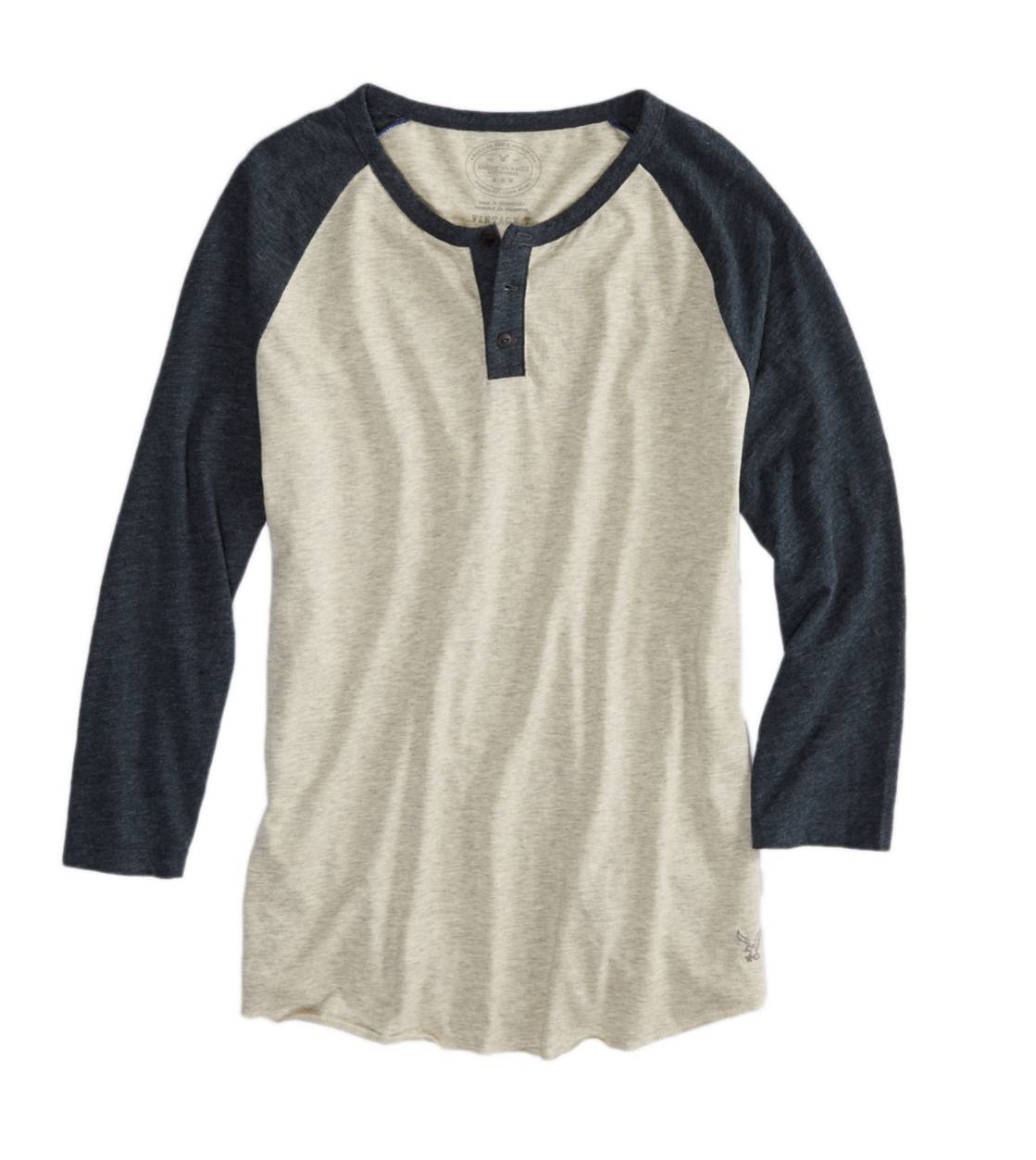 Oatmeal Heather AE Baseball Henley