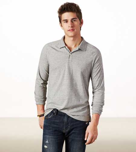 AE Long Sleeve Polo