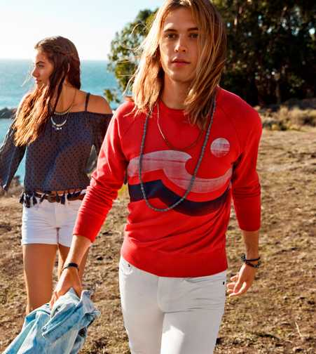 AEO Raglan Graphic Sweatshirt