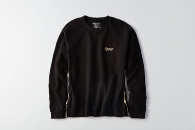 Side-Zip Crew Sweatshirt