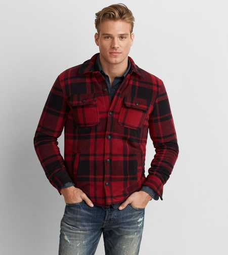 AEO Fleece Shirt Jacket
