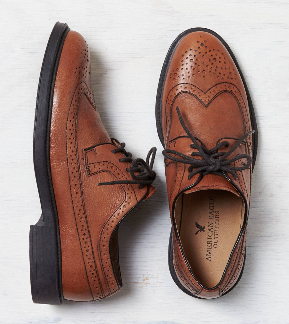 Tan AEO Wingtip Shoe