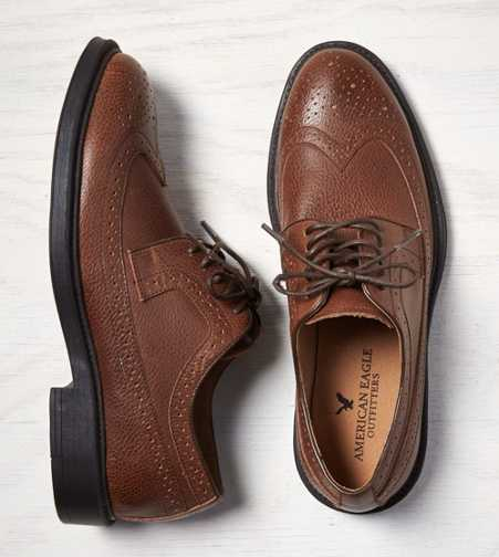 AEO Perforated Leather Wingtip Oxford