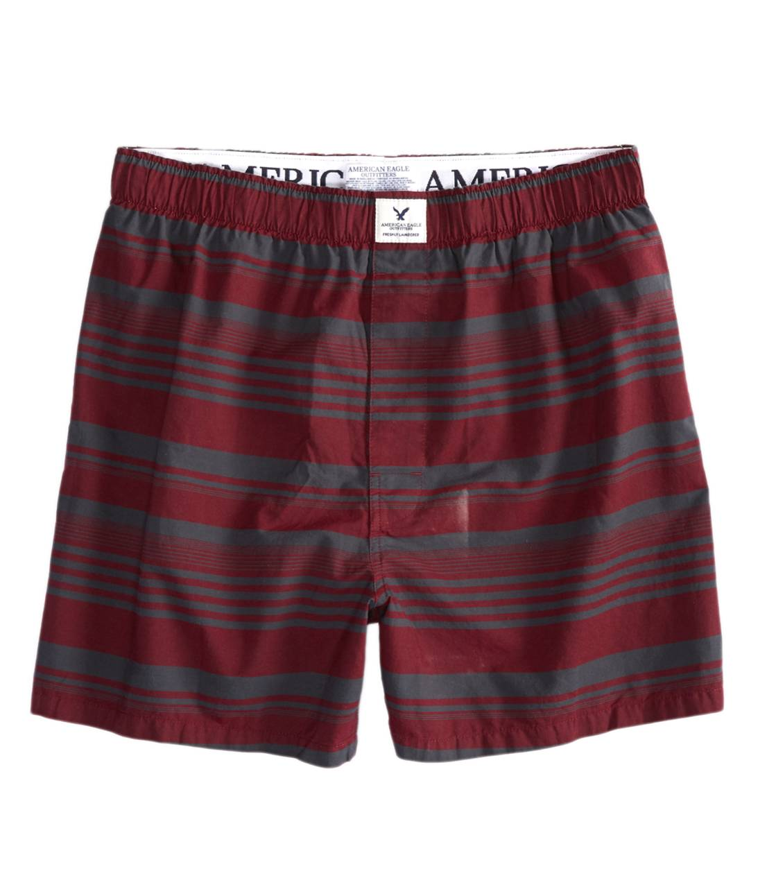 Burgundy AE Striped Boxer