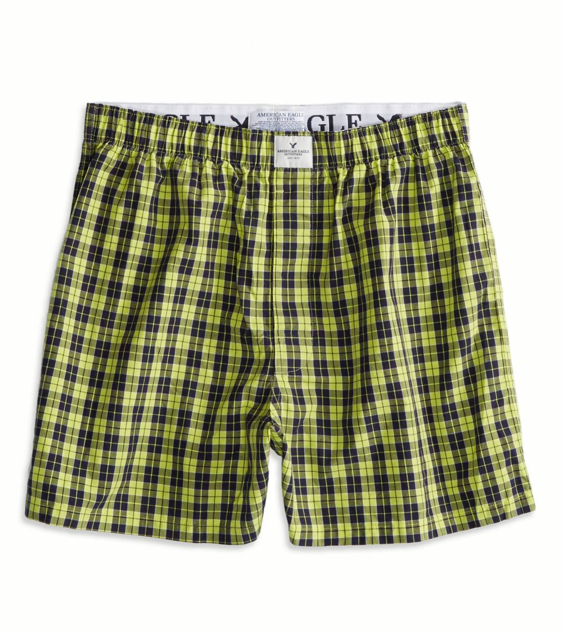 Yellow AE Plaid Boxer