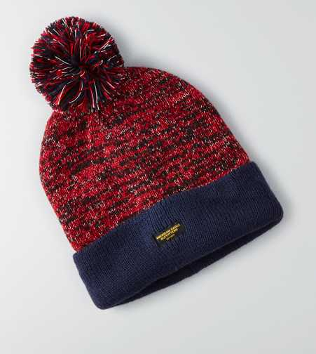 AEO Turn-Up Pom Beanie