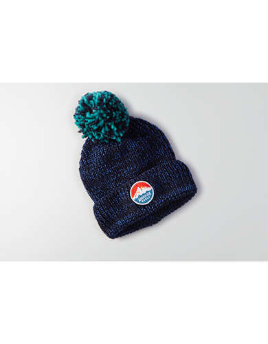 AEO Classic Pom Turn-Up Beanie -