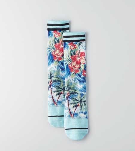AEO Tropical Photoreal Crew Socks  - Buy One Get One 50% Off