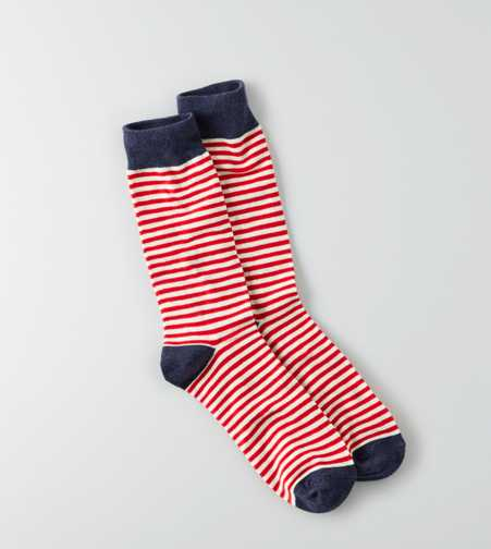 AEO VDAY Stripe Fun Sock - Buy One Get One 50% Off