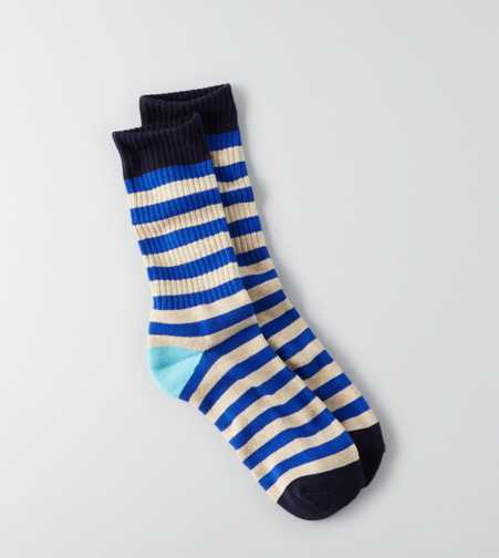 AEO Stripe Crew Socks - Buy One Get One 50% Off