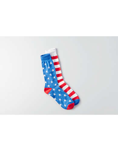 AEO Americana Crew Socks - Buy One Get One 50% Off