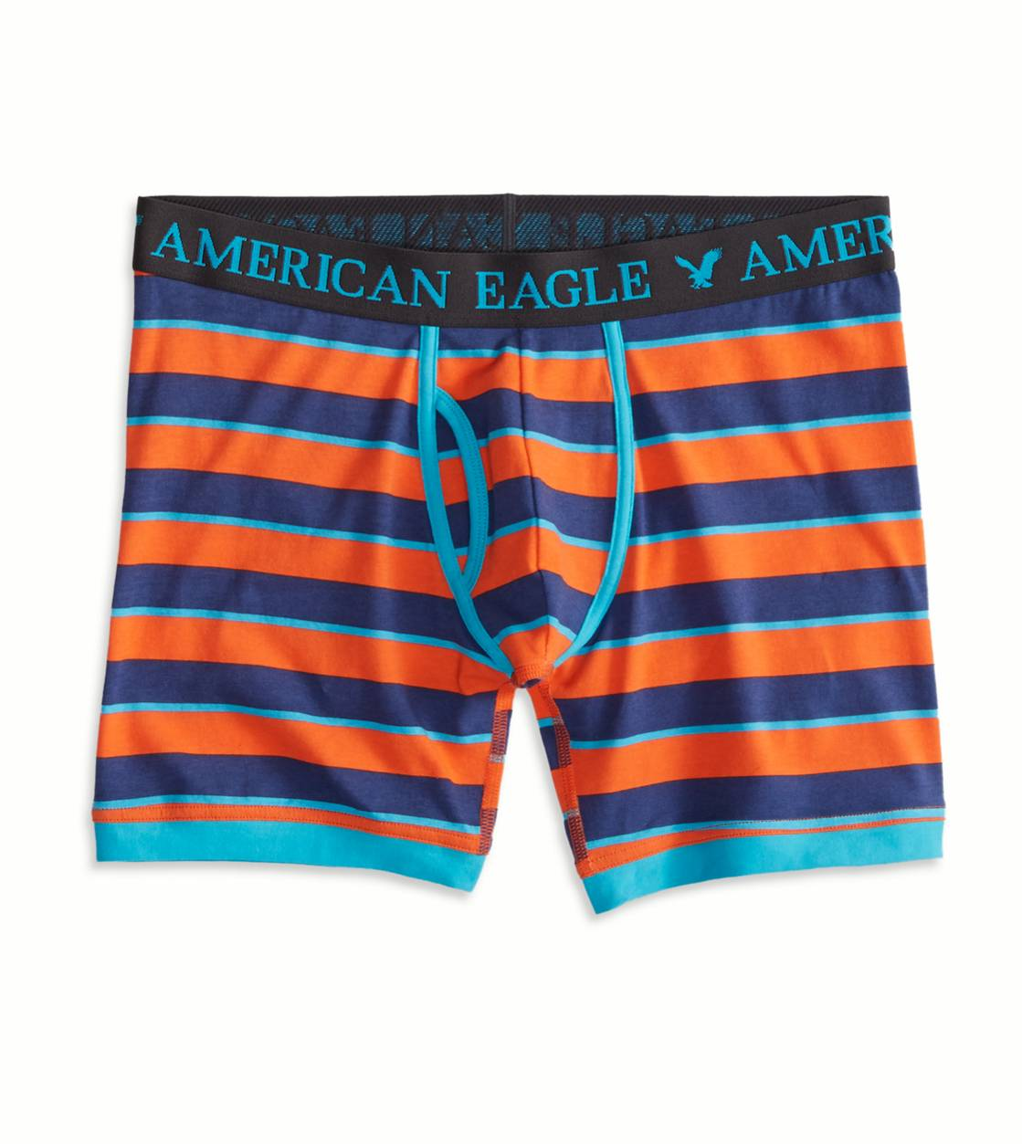 Orange AE Striped Athletic Trunk