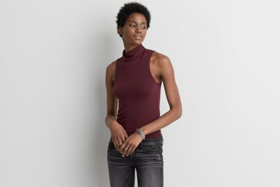 First Essentials Turtleneck Tank