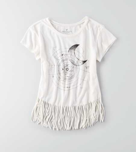 AEO Fringe Graphic T-Shirt