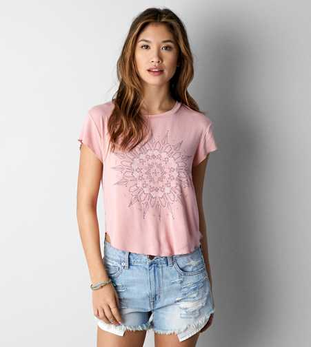 AEO Cropped Graphic T-Shirt
