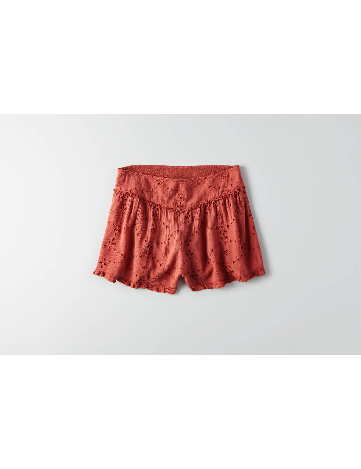Display product reviews for AEO Gauze Eyelet Soft Shorts