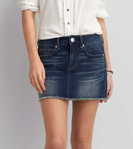 AEO Denim Mini Skirt