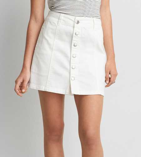 AEO Denim Button Down Skirt