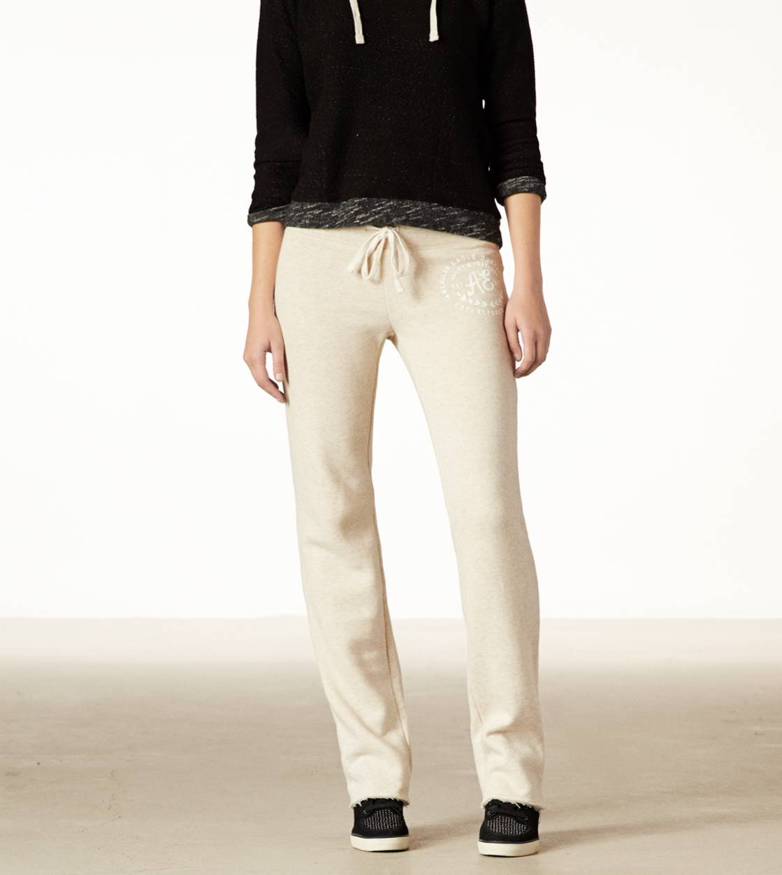Oatmeal AE Real Soft Heritage Fleece Pant