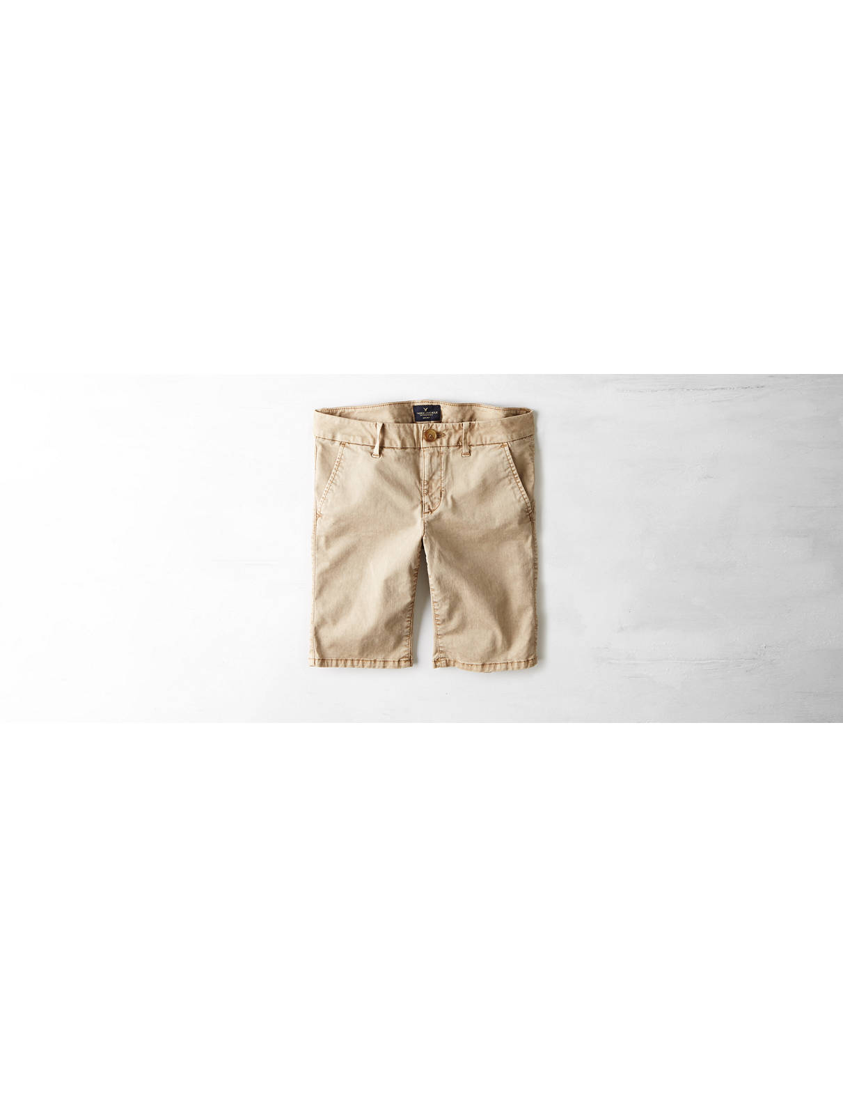 Display product reviews for AEO Twill Skinny Bermuda Short