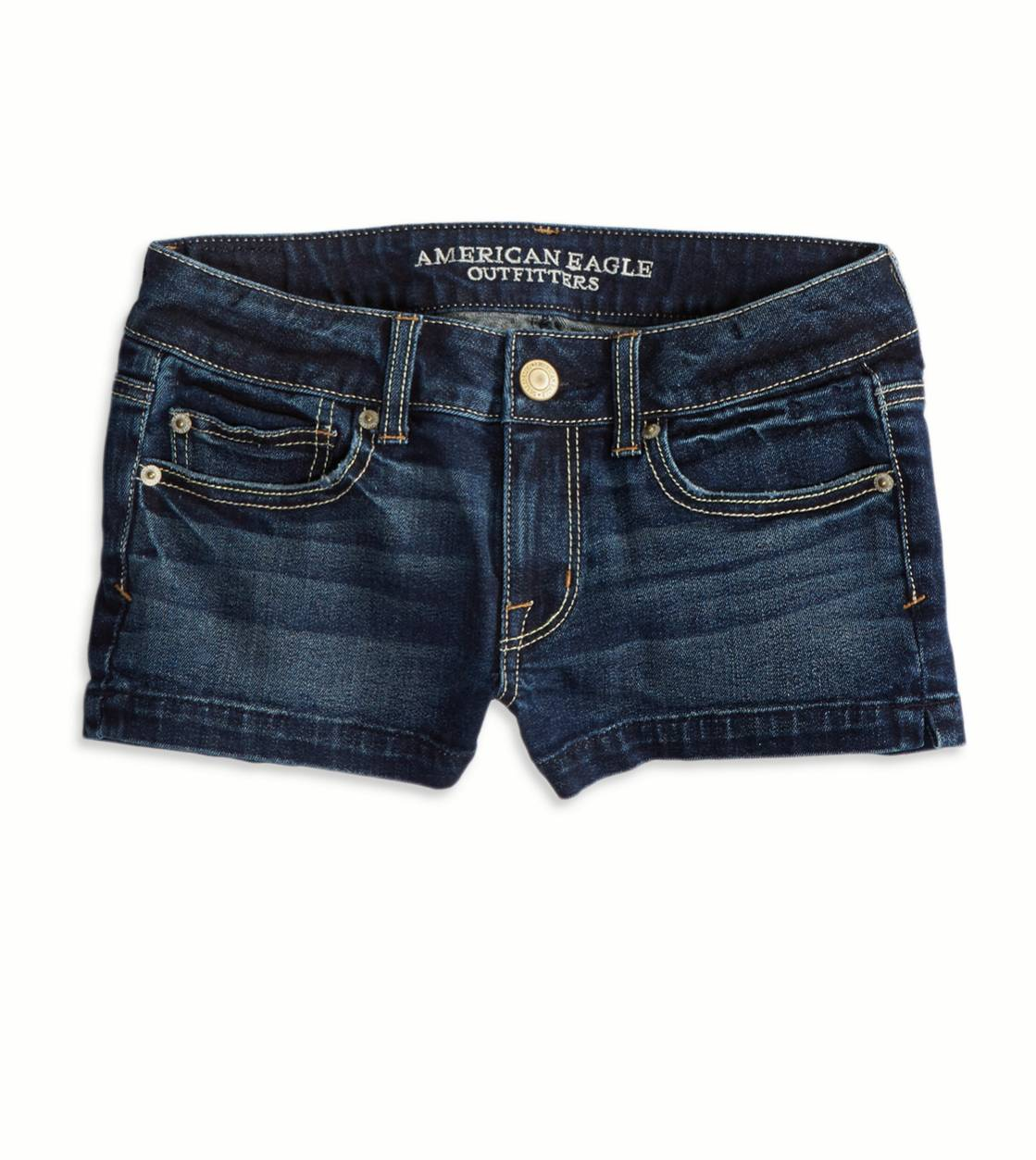 Dark Clean Indigo AE Denim Shortie