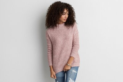 Mock Neck Jegging Sweater