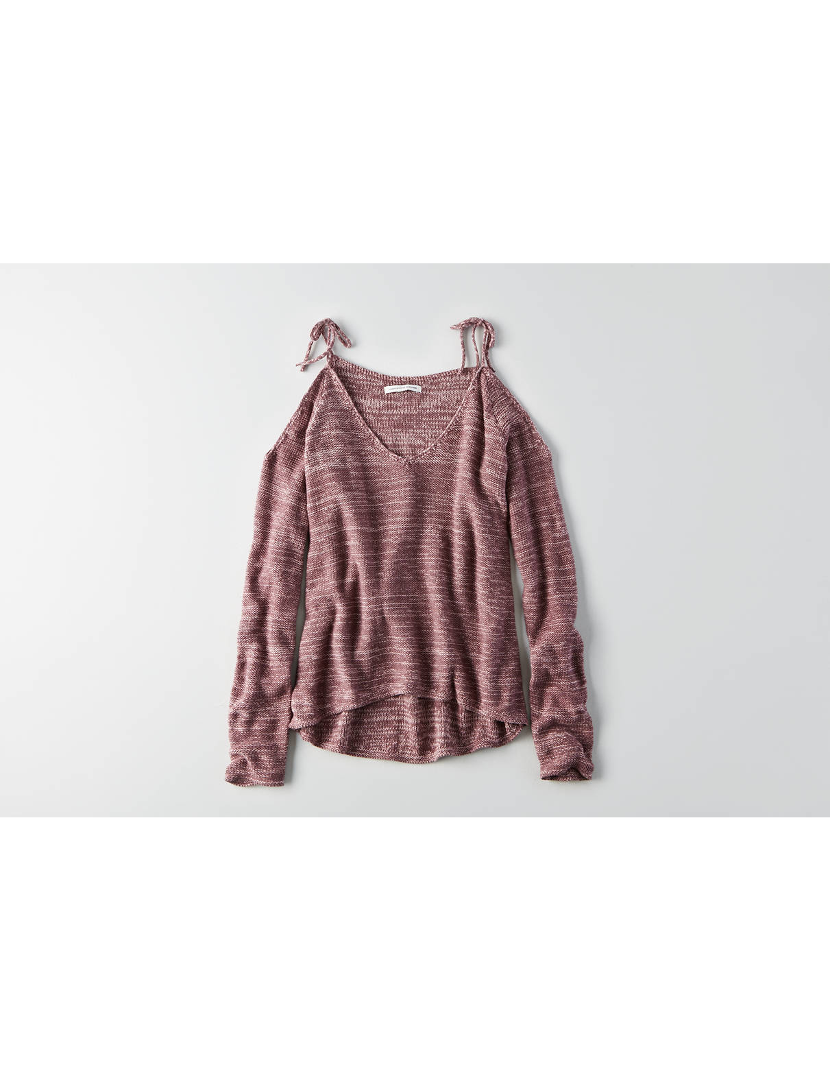 Display product reviews for AEO Cold Shoulder Tie Pullover
