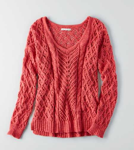 AEO Open Knit Sweater