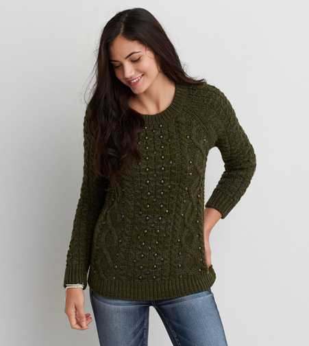 AEO Studded Pullover Sweater