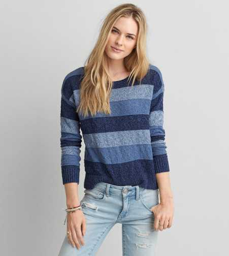 AEO Textured Stripe Sweater