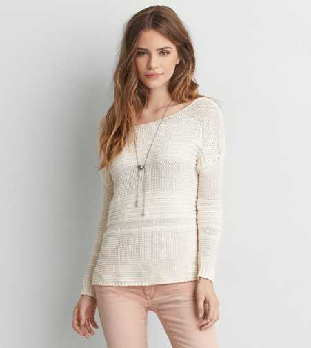 AEO Mix Stitch Pullover Sweater