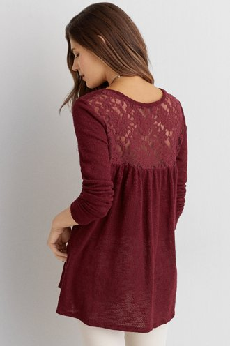 AEO Feather Light Lace Sweater