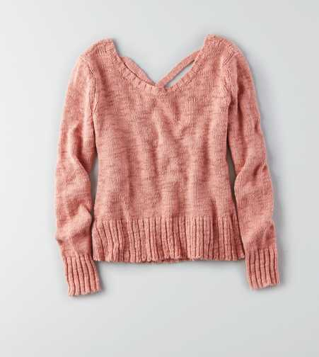 AEO Cross-Back Pullover Sweater