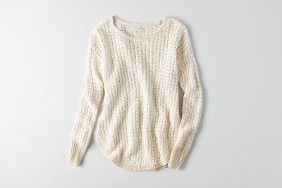 Hi-Low Textured Sweater